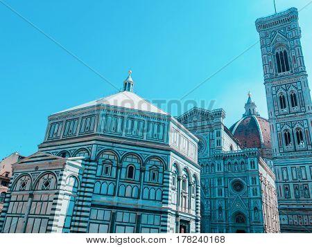 Duomo Santa Maria Del Fiore in Piazzale Michelangelo in Florence, Tuscany, Italy europa