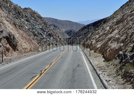 USA - july 11 2016 : road in the Death Valley National Park