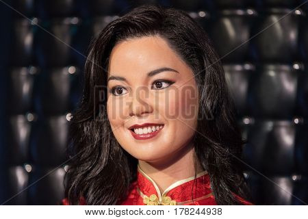 Bangkok - Jan 29: A Waxwork Of Teresa Teng On Display At Madame Tussauds On January 29, 2016 In Bang