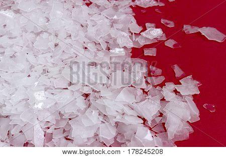 Magnesium chloride flakes -sea salt - close up