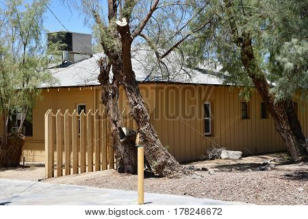 USA - july 11 2016 : the Furnace Creek ranch in the Death Valley National Park
