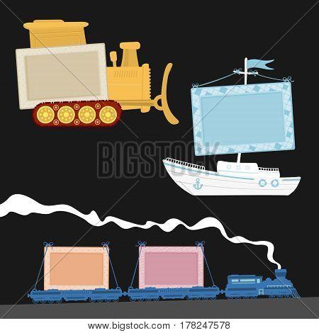 Vector Illustration Kids Frame eps 8 file format