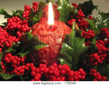 Candle In Red
