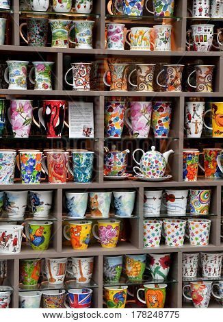 Strasbourg France - july 22 2016 : mug in a shopping center in the city center in summer