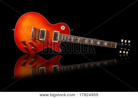 The Electric guitar isolated on dark background poster