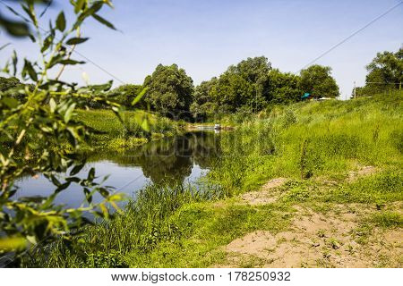 Beautiful Landscape With A Small River