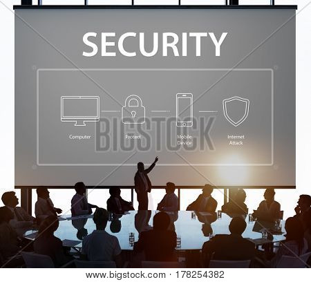 Business people security protection