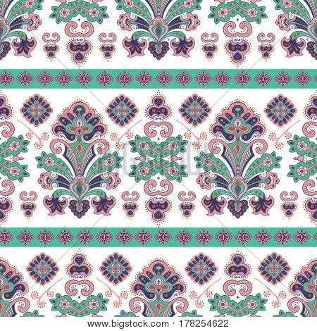 Hand drawn vector ethnic ornamental seamless pattern