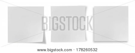 White post it isolated on a white background