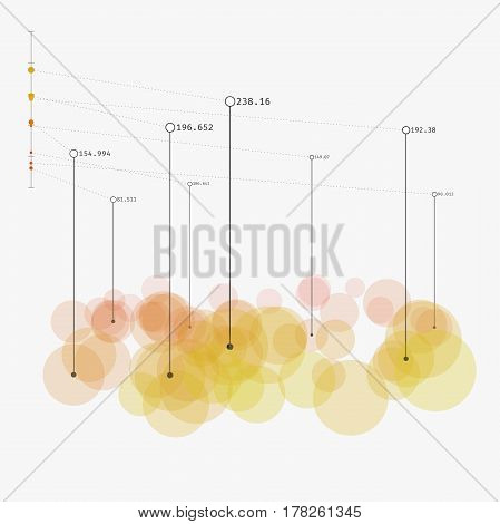 Colorful contemporary statistic visualization. Advanced big data analytics. Simple representation of complex informational system. Modern vector illustration. Element of design.