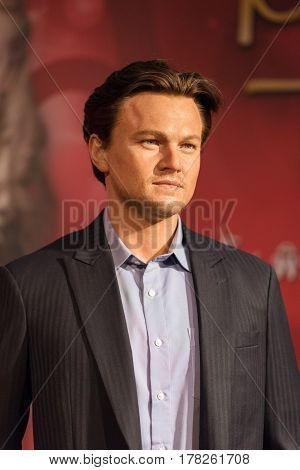 Bangkok -jan 29: A Waxwork Of Leonardo Dicaprio On Display At Madame Tussauds On January 29, 2016 In