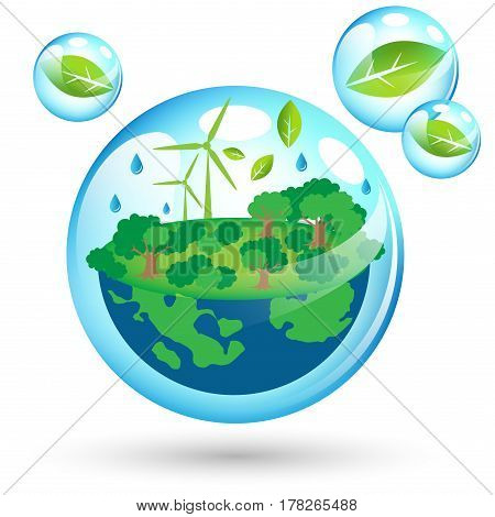 Beautiful eco Friendly world for Earth Day