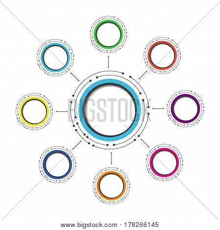 modern circle infographic isolated on white background
