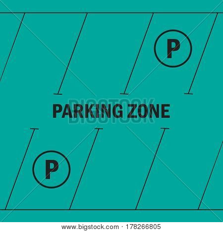 Park with parking places parking zone vector