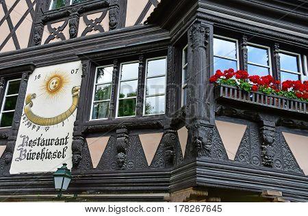 Strasbourg France - july 24 2016 : restaurant in the Orangerie park in summer