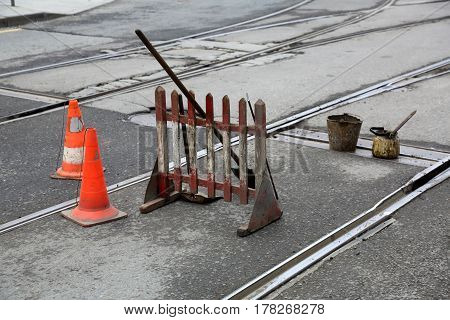 Repair Works On The Road