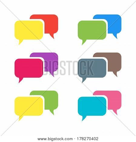 Pictograph of message or chat. Message vector Icons.
