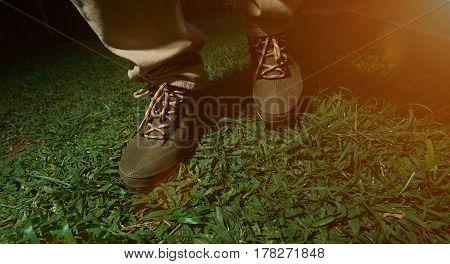 Walking On Green Grass