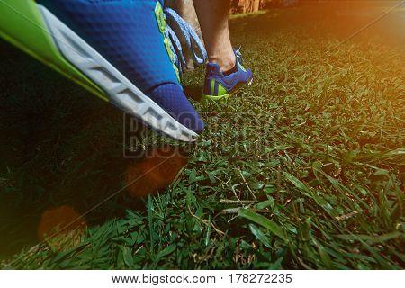Walking On Blue Run Shoes
