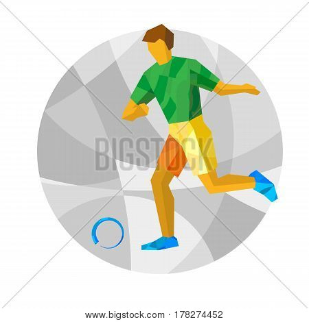 Physically Disabled Football Player With Abstract Patterns