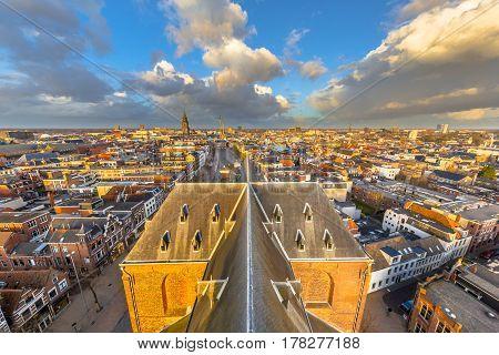 Groningen City Aerial View