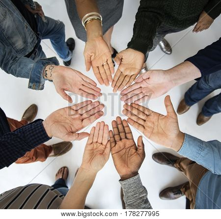 Diversity People Hands Together Teamwork