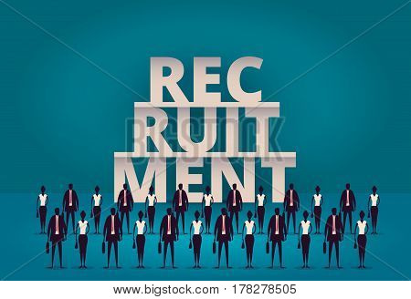 Business Recruitment Concept. Hr Manager Hiring New Employee Or Workers For Job. Recruiting Staff Or