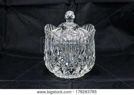 Crystal Candy Dish (five and a half inches high, four wide)