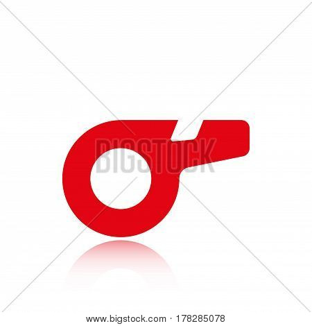 whistle icon stock vector illustration flat design