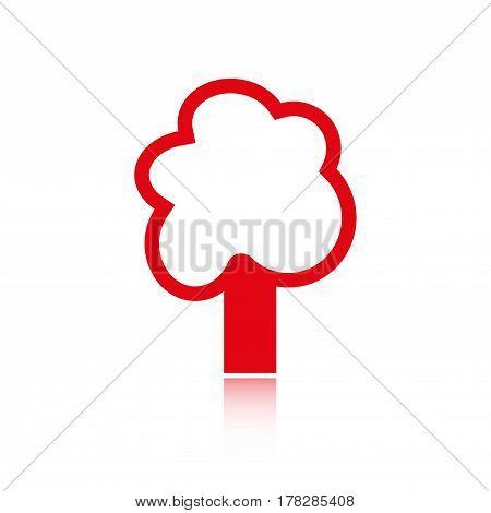 tree icon stock vector illustration flat design