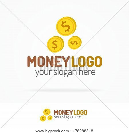 Logo money set color style for use finance company, exchange, investment firm and banking care etc. Vector Illustration