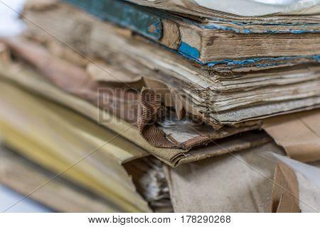 Paper Files In Folder Old Documents Or Old Letter