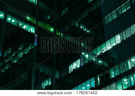 Skyscrapers At Night, Moscow International Business Center - Moscow-city, Russia