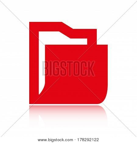 folder icon stock vector illustration flat design