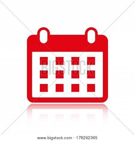 calendar icon stock vector illustration flat design