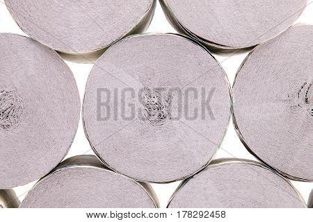 Rolls of toilet paper. Toilet paper rolls close-up