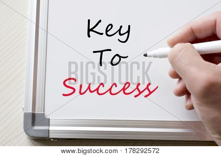 Key To Success Written On Whiteboard