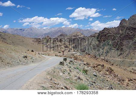 Beautiful landscape near Kargil in Ladakh, India