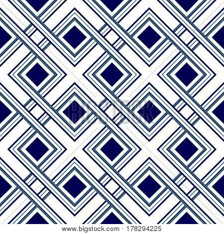 Seamless pattern of interlaced lines, abstract geometric ornament