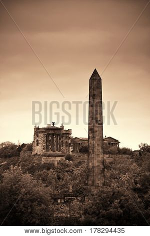 Calton Hill in Edinburgh, United Kingdom.