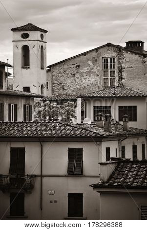 Lucca roof in different style in Italy