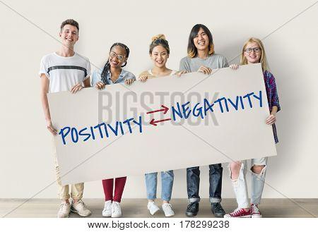 Emotional Choices Positivity Negativity Text