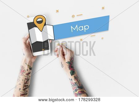 Travel Map Route Marker Location Icon