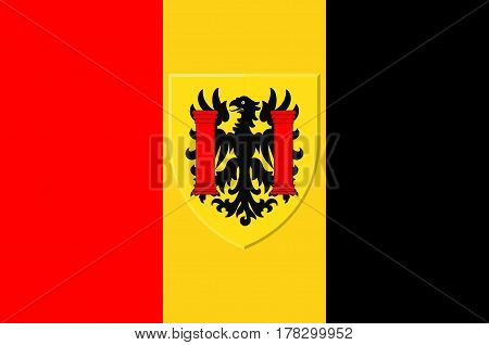 Flag of Besancon is the capital of the department of Doubs and of the Franche-Comte region in eastern France.