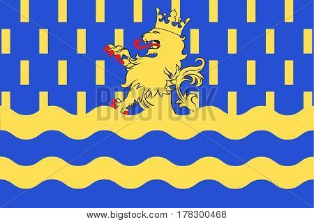 Flag of Doubs - department in eastern France department of the region of Franche-Comte. Vector illustration