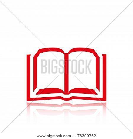 book icon stock vector illustration flat design