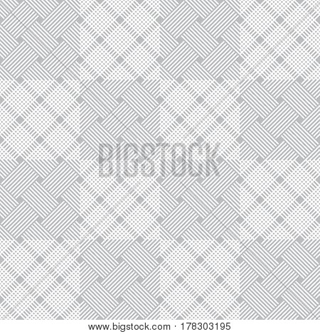 Plaid seamless pattern. Classical tablecloth texture. Checkered fabric background. Regularly repeating geometric tiles with small rhombuses strips squares. Vector element of graphical design