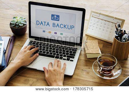 Cloud Network Data Backup Concept