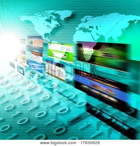 Abstract image of media streams