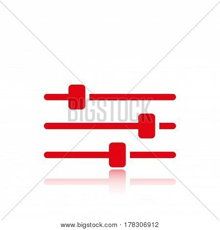 settings icon  stock vector illustration flat design